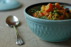 Fall Vegetable Korma  adapted from Plenty, by Diana Henry    This is a mild, ecumenical curry, which travels well throughout the season. Add the last zucchini, or the first cauliflower, or ribbons of kale, as summer's green beans give way to fall's greens. As with all curries, leftovers are wonderful.