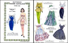Butterick Home Catalog Spring 1961 Paper Dolls by Judy M. Johnson
