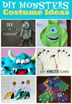 DIY Monsters Costume Ideas - great inspiration for a Monsters University Halloween theme!