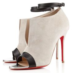 Christian Louboutin Diptic Sandals 100mm Suede Stone