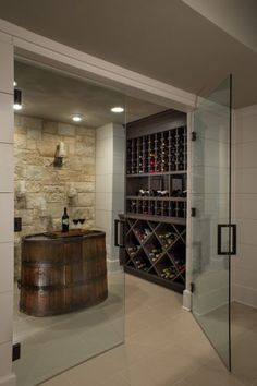 Terrace Turnaround transitional wine cellar