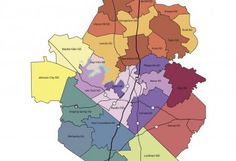 Map showing boundaries for Independent School Districts in Central Texas. School District Map, Cedar Park Texas, Independent School, Central Texas, Best Places To Live, Day Trips, One Day Trip