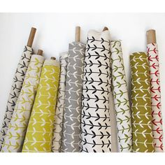 I love these fabrics by Skinnylaminx (etsy) found via Design*Sponge. I love fabric but hate to sew. Textiles, Textile Patterns, Textile Design, Fabric Design, Print Patterns, Pattern Design, Orla Kiely Fabric, Orla Kiely Curtains, Curtain Fabric