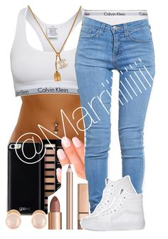 """1 DAY"" by trill-forlife ❤ liked on Polyvore featuring Calvin Klein, Calvin Klein Underwear, Gooey, Forever 21, Elegant Touch, ZooShoo, Vans, Chanel and Kenneth Jay Lane"