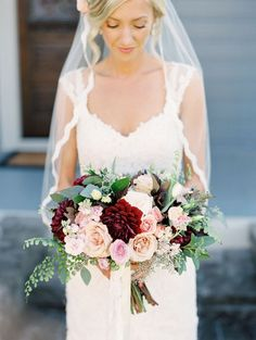 Rustic fall bouquet: http://www.stylemepretty.com/oregon-weddings/west-linn/2016/04/05/an-1887-farmhouse-played-host-to-this-rustic-garden-wedding/   Photography: Sweetlife Photography - http://www.lovethesweetlife.com/