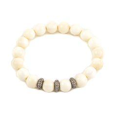 Wooly mammoth and diamond bracelet Martha Ackerman Jewelry