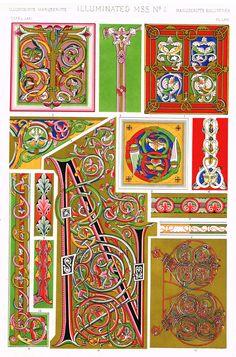 "Owen Jones Design - ""ILLUMINATED - No..1"" - Chromo Lithogrpah - 1868"