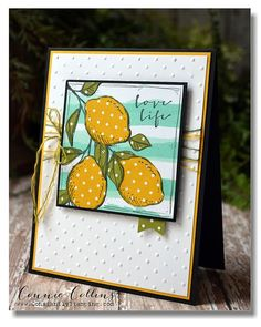 hand crafted card: Lovely Lemons ... stamping on patterned paper and paper piecing with patterned paper ... great card! ...Stampin' Up!