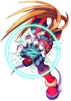 Mega Man Zero by character designer Toru Nakayama. Mega Man, Manga Anime, Anime Art, Maverick Hunter, Character Art, Character Design, Megaman Zero, Megaman Series, Fighting Robots