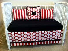Adorable New MICKEY MOUSE Crib Bedding Set w/ polka ... | Offspring...