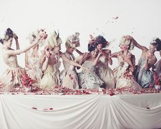 You're My Obsession: Sofia Coppola + A Marie Antoinette Style Cake Fight - Inward Facing Girl by Melanie Biehle