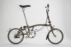 Brompton Bicycle in Raw Lacquer finish. Gorgeous, brilliant bike.