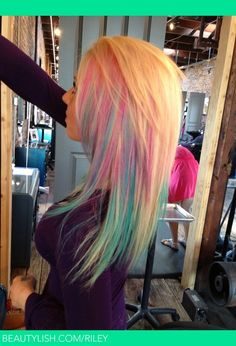 Cotton Candy Hair | Riley V.'s (Riley) Photo | Beautylish