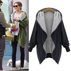 Women Fashion Winter Hooded Warm Jacket Coat Trench Windbreaker Parka Outwear | eBay
