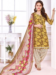 Sultry pink and multi color casual wear glaze cotton patiyala salwar suit. Having fabric glaze cotton and chiffon. This gorgeous dress is displaying some brilliant design done with print work. Comes with matching bottom and dupatta.#mydesiwear #onlineshop #salwarsuits #womenstyle #womenfashion  #festivewear #partywear #fashion #ethnicwear #ceremonywear  #weddingfashion #weddingseason #indianwedding #weddingbeauty  #weddingsuits #cotton #weddingfestival #WeddingTrends #stylewedding…