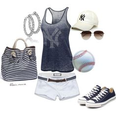 girly baseball outfit :)  Love!!! But needs to be st. Louis cardinals