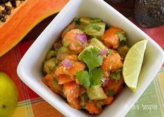 Dinner Under 350 Calories - Papaya Avocado Salad