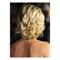 How-To Kristen Bell's Braided Updo ❤ liked on Polyvore featuring hair