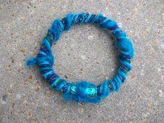 Mixed Media ART Bangle Bracelet by AngieHallHaviland on Etsy, $5.00