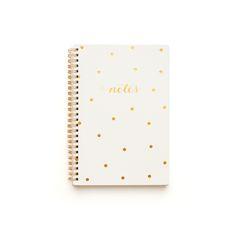 Sugar Paper gold polka dor notebook + planner