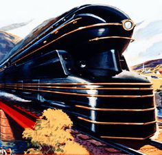 Pennsylvania Railroad S-1 locomotive, styled by Raymond Loewy. It was shown at the 1939 World's Fair (read more here):