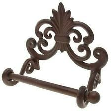 Comfify Fleur De Lis Cast Iron Toilet Paper Roll Holder - Cast Iron Wall Mounted Toilet Tissue Holder - European Victorian Design - - with Screws and Anchors (Rust Brown) Recessed Toilet Paper Holder, Toilet Paper Dispenser, Wall Mounted Toilet, Paper Roll Holders, Toilet Paper Roll Holder, Tissue Holders, Victorian Design, Victorian Decor, Octopus Wall Art