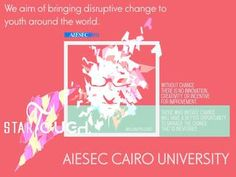 STARTOUGH - Make your shortcut with AIESEC CAIRO UNIVERISTY  Start Tough is an exclusive opportunity brought to you by Cairo University, the largest and oldest campus in Egypt, and the only Egyptian accredited academic entity, among the 500 top global universities. Start Tough is a partnership between AIESEC Cairo University and various academic and entrepreneurial entities with the aim of bringing disruptive change to youth around the world.