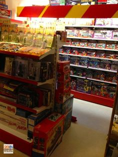 Some guy's vintage Transformers collection - Designed to look like a toy store. :)
