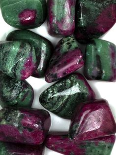 Ruby & Zoisite tumbled stones