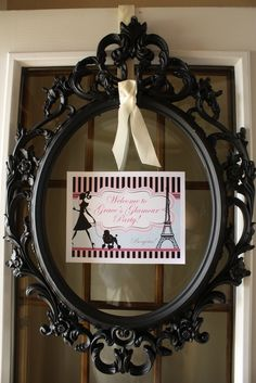 Gorgeous frame for a French, Paris, Fashion Birthday Party!  See more party ideas at CatchMyParty.com!