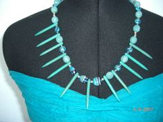 Magnesite spikes with Czech glass beads