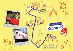 L'ultime étape du Tour de France 2017 par deux degrés et Mélanie Béguier France 2017, Paris, Montmartre Paris, Paris France
