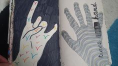 My Wreck This Journal - Trace Your Hand Page #kerismith #wreckthisjournal #thisisnotabook