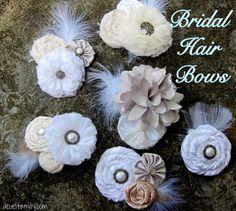 bridal hair bow