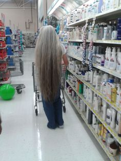 Wrong ... wrong ... WRONG!! Cut it. I LOVE long grey hair but it has to be HEALTHY and beautiful or you just need to cut it. Length for length sake is just shabby. Take it up to just under your butt cheeks to make it stunning.