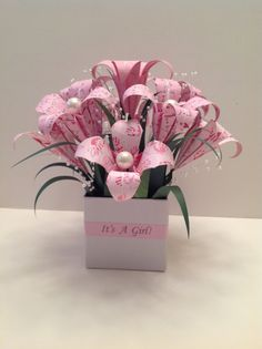 224 best origami flowers images on pinterest origami ideas its a girl origami flower arrangement mightylinksfo