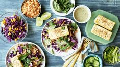 This make-ahead slaw with crunchy roasted cashews, toasted coconut, and a duo of cabbages is as textural as it is flavorful. Spicy Thai Salad Recipe, Thai Cucumber Salad, Thai Salads, Arugula Salad, Vegetarian Recipes, Healthy Recipes, Primal Recipes, Veg Recipes, Simple Recipes
