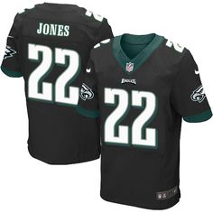 dfd2fea2d Nike Eagles  22 Sidney Jones Black Alternate Men s Stitched NFL New Elite  Jersey And
