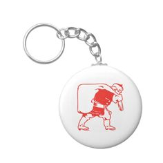 Customizable Button Keychain made by Zazzle Flair. Santa Clause, Personalized Items, Color, Papa Noel, Colour, Colors