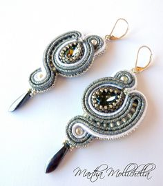 soutache earrings jewelry handmade in Italy - Lacasinaditobia Lacasinaditobia
