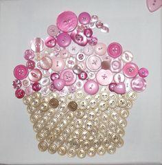 Button Cupcake Pink
