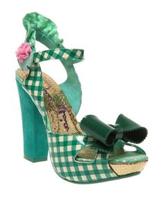 Take a look at this Green & White Love Bug Sandal by Irregular Choice on #zulily today!
