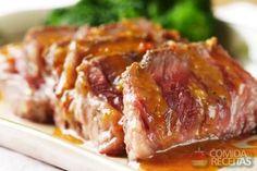 Receita de Lombo de porco ao molho de laranja em receitas de carnes, veja essa e outras receitas aqui!                                                                                                                                                                                 Mais