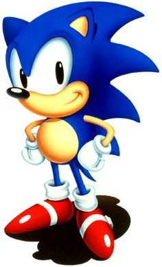 Classic Sonic the Hedgehog all in his glory