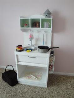 DIY Upcycled Play Kitchen