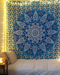 """Aqua Spring Tapestry from thebohemianshop.com - Save 15% OFF your order using coupon code """"SAVE15"""""""
