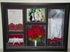 Wedding Shadow Box (I am so doing this for my wedding) I'm in love with this!