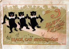 Black Cat Hosiery Company: A children's story book promotional giveaway from the 1899 Christmas season.