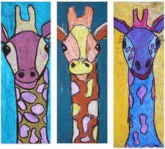 The Rolling Artroom: Oil Pastel Giraffes Grade) Oil Pastel Paintings, Oil Pastel Art, Oil Pastels, Third Grade Art, Grade 1, Second Grade, Giraffe Art, Giraffes, Pastel Crayons