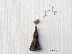 Songbird, bird image, Pebble art, stone painting, original art, pebble picture, gift by KathrinsKieselKunst on Etsy https://www.etsy.com/listing/577451948/songbird-bird-image-pebble-art-stone